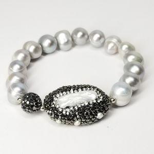 New Grey Freshwater Pearls Bracelet